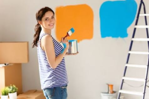 painting colors on wall